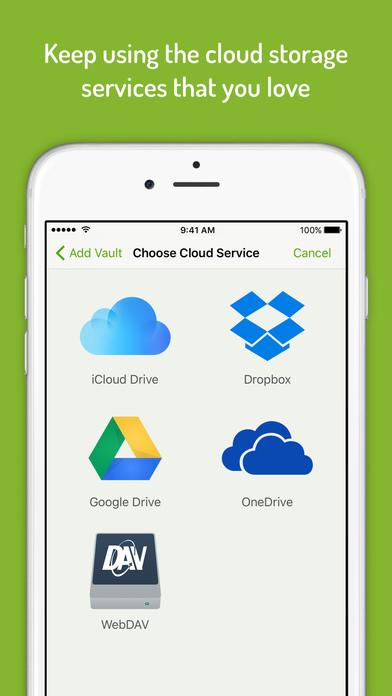 Cryptomator - Cloud Storage Encryption Screenshots