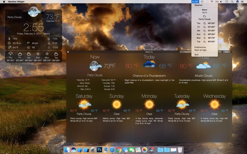 App Store Screenshot of Weather Widget: Desktop forecast Pro