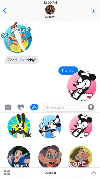 Disney Stickers: Decades 앱스토어 스크린샷