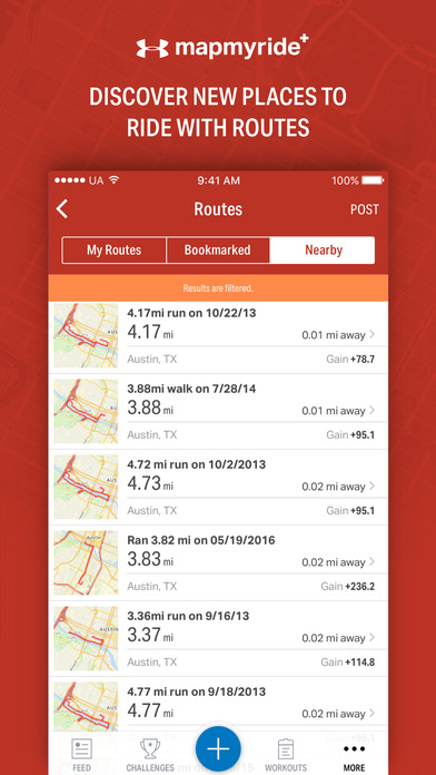 Map My Ride+ - GPS Cycling & Route Tracker Screenshots