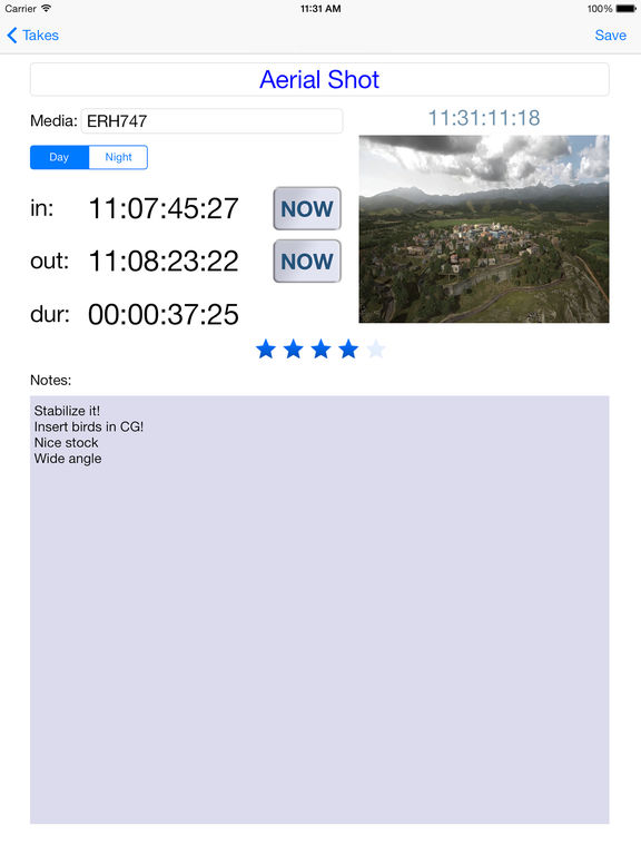 Timecode List (+Calc) Screenshots