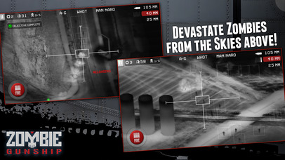 Screenshots of Zombie Gunship: Gun Down Zombies for iPhone