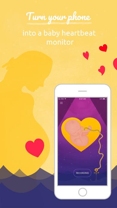 baby 39 s heart beat monitor fetal heartbeat doppler app report on mobile action. Black Bedroom Furniture Sets. Home Design Ideas