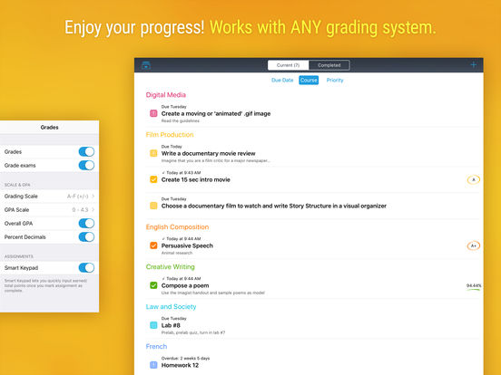 iStudiez Pro – Homework, Schedule, Grades Screenshots