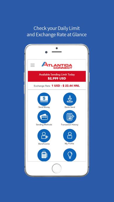 Atlantida Connect Money Transfers screenshot