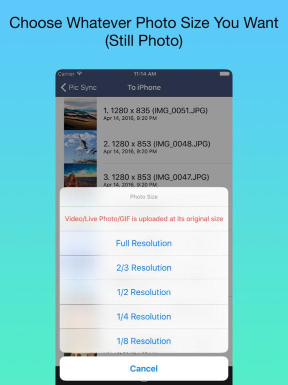 Pic Sync for WiFi Screenshots