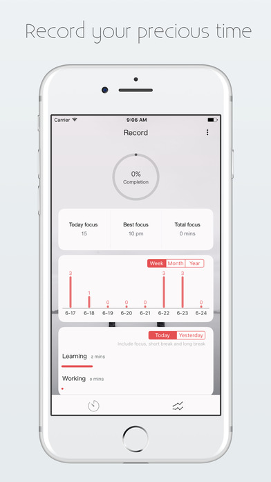 One Tomato-Time management tool Screenshots