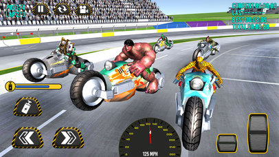 Superheroes Moto Bike Racing screenshot 2