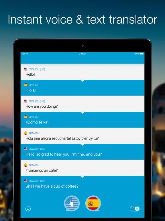 Screenshot #1 for Speak & Translate - Voice and Text Translator