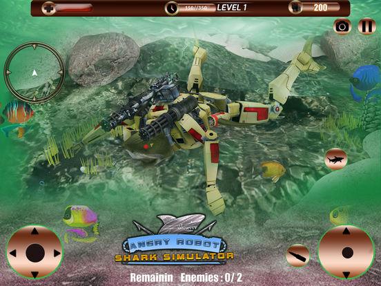 Angry Robot Shark Simulator screenshot 6