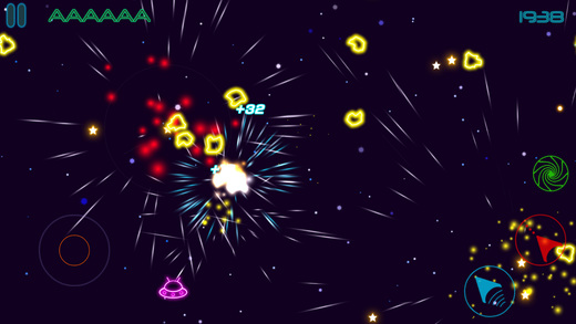 Glow Asteroids Shooter Screenshots