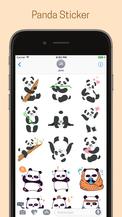 Panda Emoji Stickers - Pack screenshot 4
