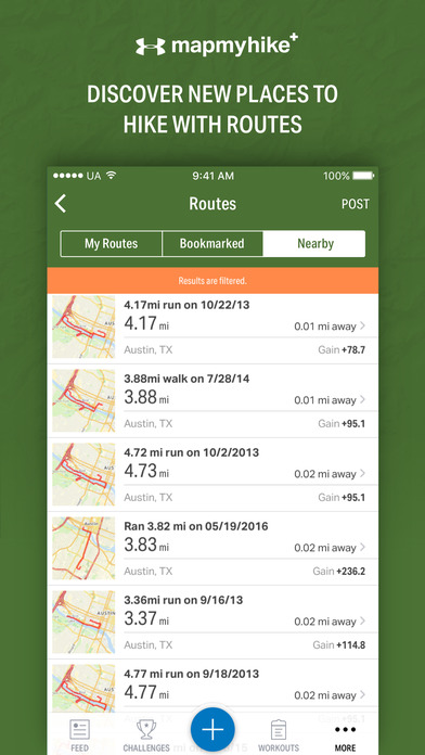 Map My Hike+ - GPS Hiking Tracker & Trail Finder Screenshots