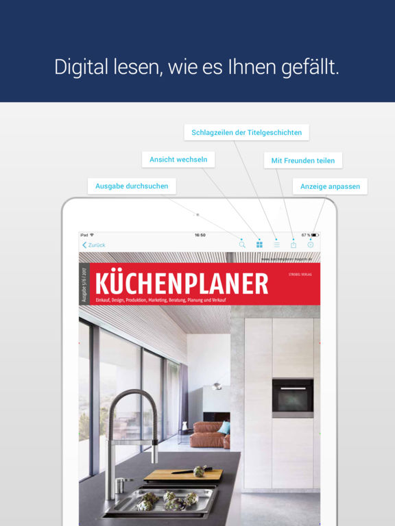 k chenplaner kauf produktion planung magazin on the app store. Black Bedroom Furniture Sets. Home Design Ideas