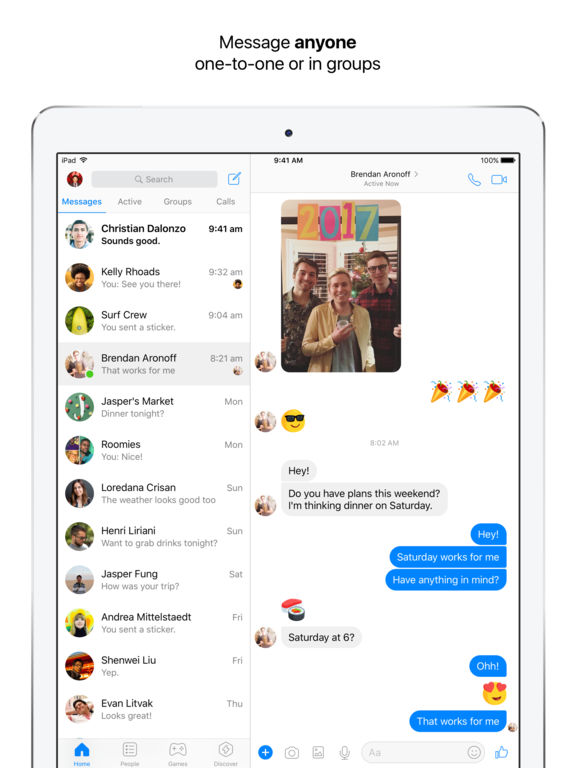 Screenshot #1 for Messenger