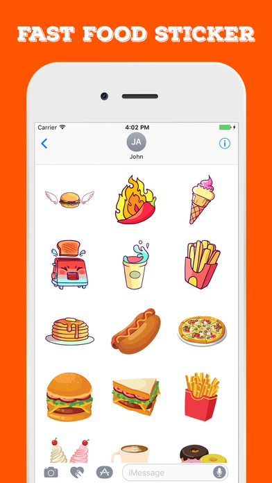 Fast Food Stickers For iMessage screenshot 1