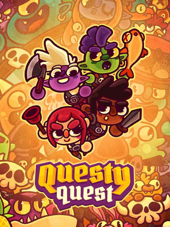 Questy Quest - Бесконечные бои нажатиями на экран Скриншоты7