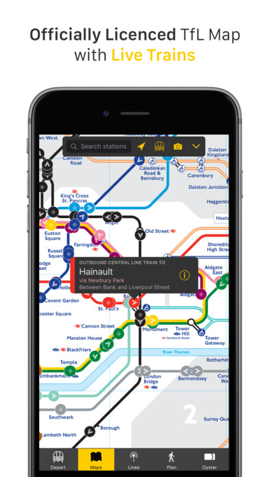 London Tube Tracker Screenshots