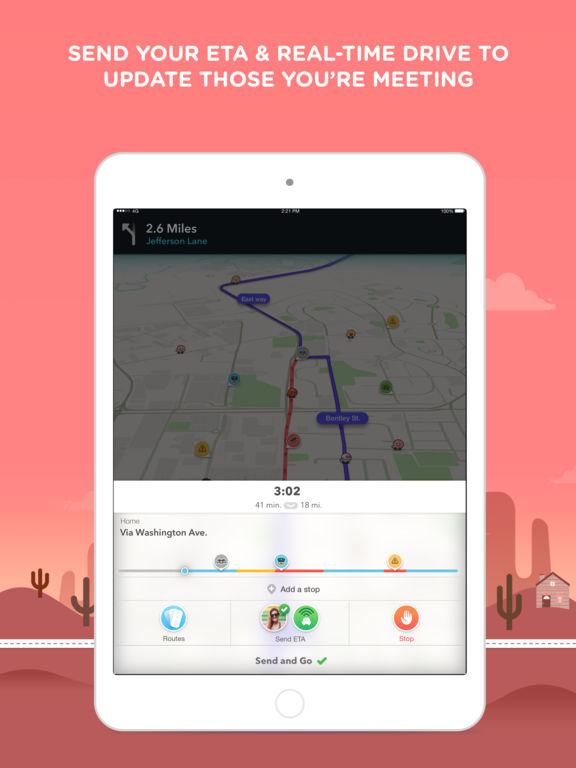 Waze social GPS traffic & gas screenshot 9