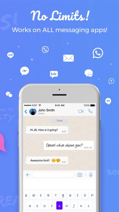 Fonti - Font Keyboard: cool fonts, colors & themes 앱스토어 스크린샷