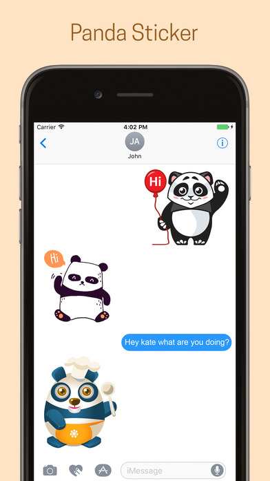 Panda Emoji Stickers - Pack screenshot 3
