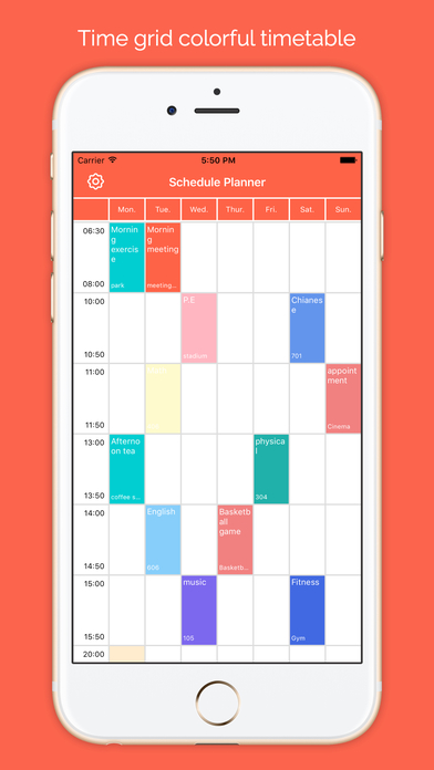 Calendar Planner Application : Schedule planner daily calendar class app