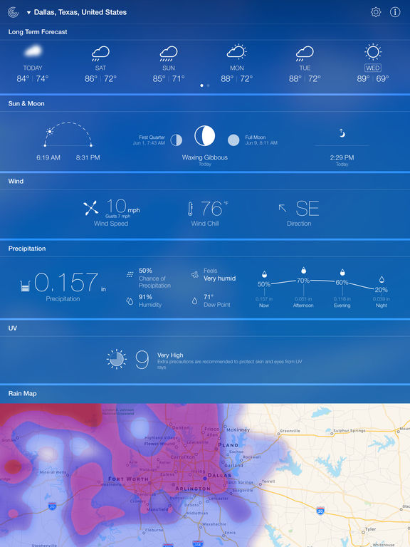 Screenshot #5 for Weather Live - Weather Forecast & Alerts