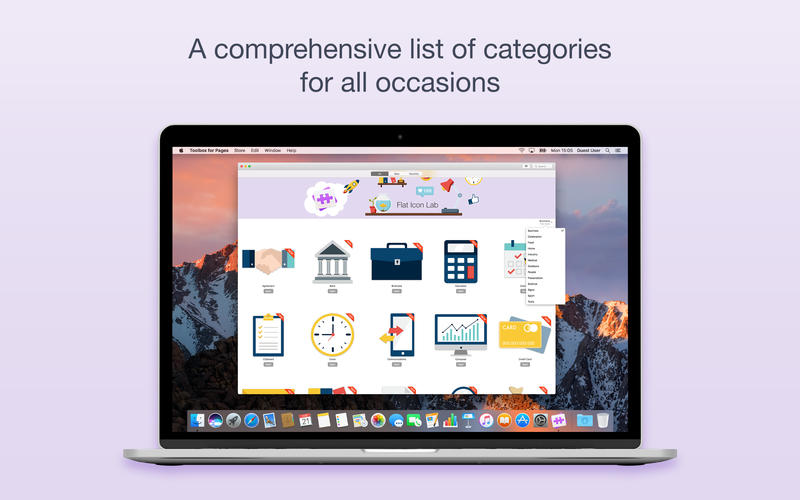 Jumsoft releases Flat Icons Lab for Mac - New Productivity Assistant App Image