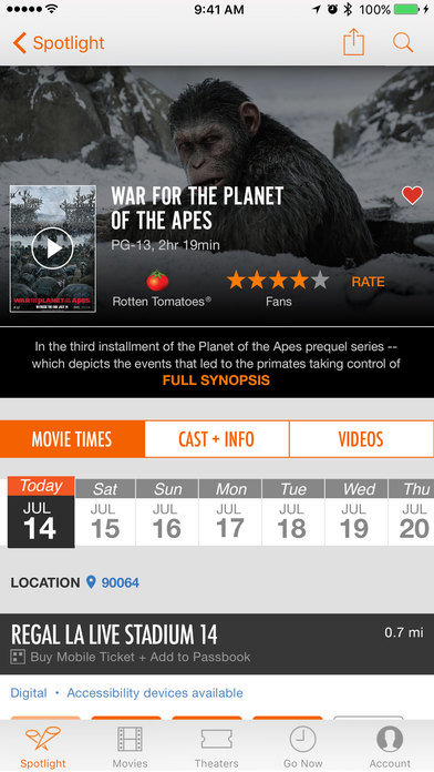 Fandango Movies - Times + Tickets screenshot