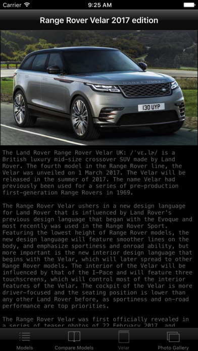 car specs range rover velar 2017 edition app report on mobile action. Black Bedroom Furniture Sets. Home Design Ideas