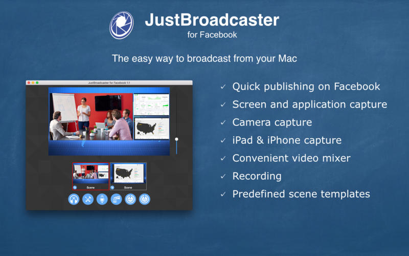JustBroadcaster for Facebook Offers Live-Stream Broadcasting for the Mac Image