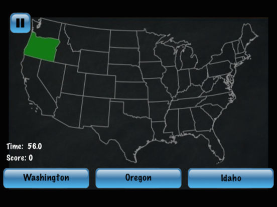 States and Capitals Challenge – Flash Cards Speed Quiz for the United States of America iPad Screenshot 1