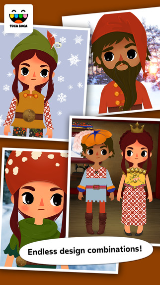 Toca Tailor Fairy Tales Screenshots