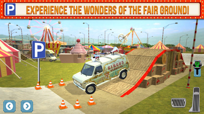 Screenshots of Amusement Park Fair Ground Circus Trucker Parking Simulator for iPhone
