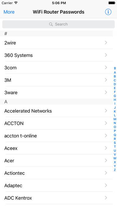 offline wi-fi router passwords app download