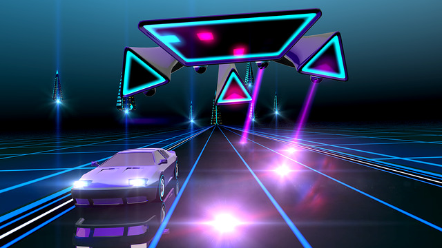 Neon Drive - '80s style arcade game Screenshots
