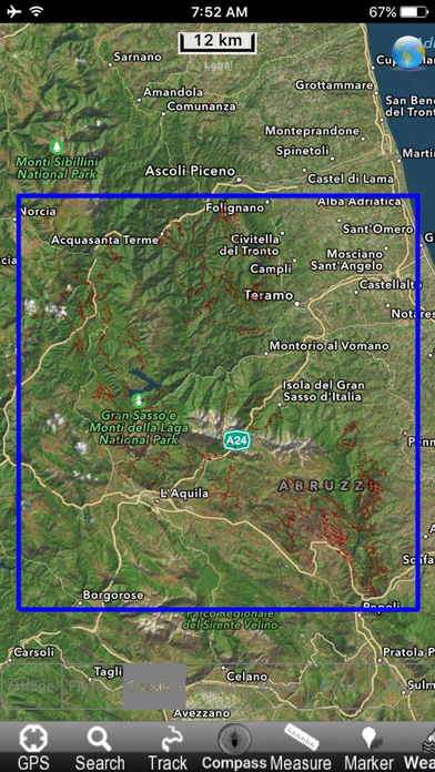 Gran Sasso e Monti della Laga National Park - GPS Map Navigator iPhone Screenshot 5