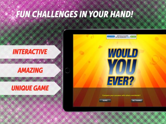 Would You Ever? iPad Screenshot 1