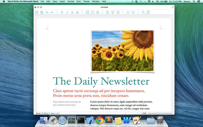 Word Writer for Microsoft Word Screenshot - 2