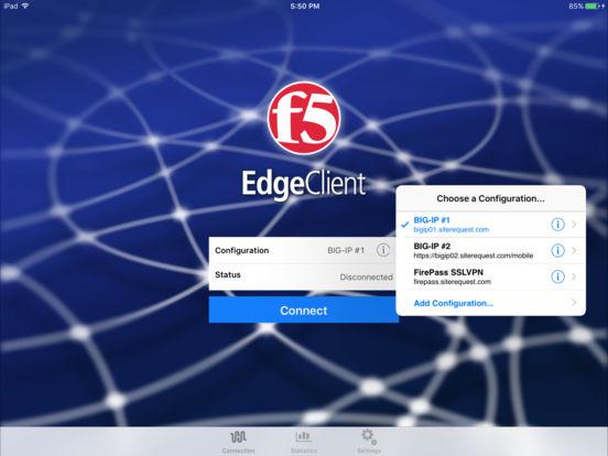 F5 BIG-IP Edge Client iPad Screenshot 1