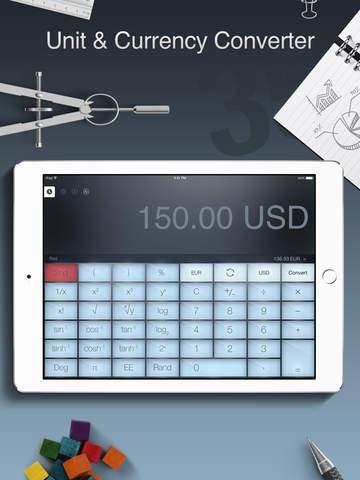 Calculator Pro for iPad - Standard and Scientific Calculator Screenshots