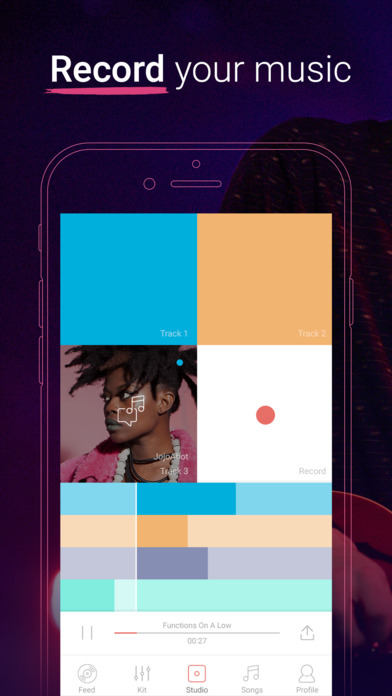 Trackd : Create, Sing, Collaborate & Record Songs screenshot