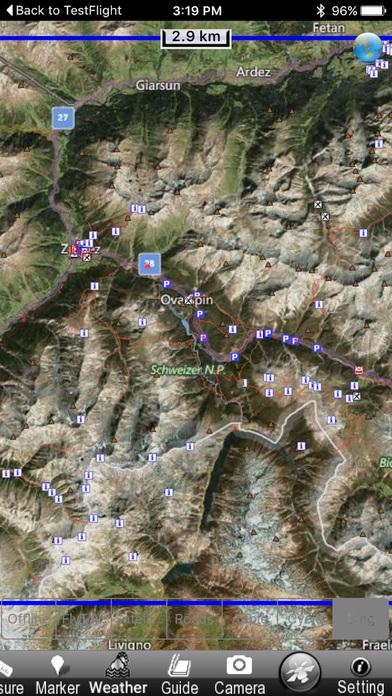 Schweizer National park - GPS Map Navigator iPhone Screenshot 5