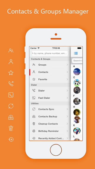 aContacts Pro - All-in-One Contact & Group Manager with Contacts Sync, Clean Screenshots