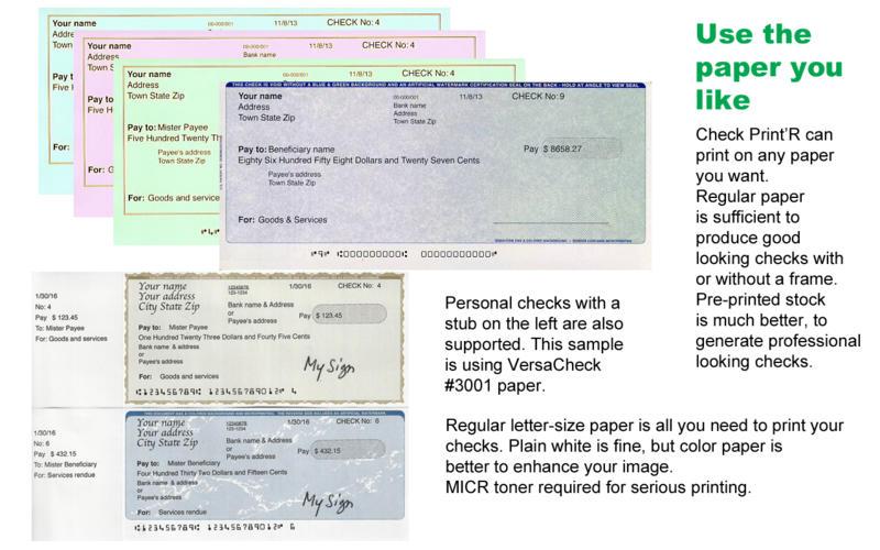can i print my own checks