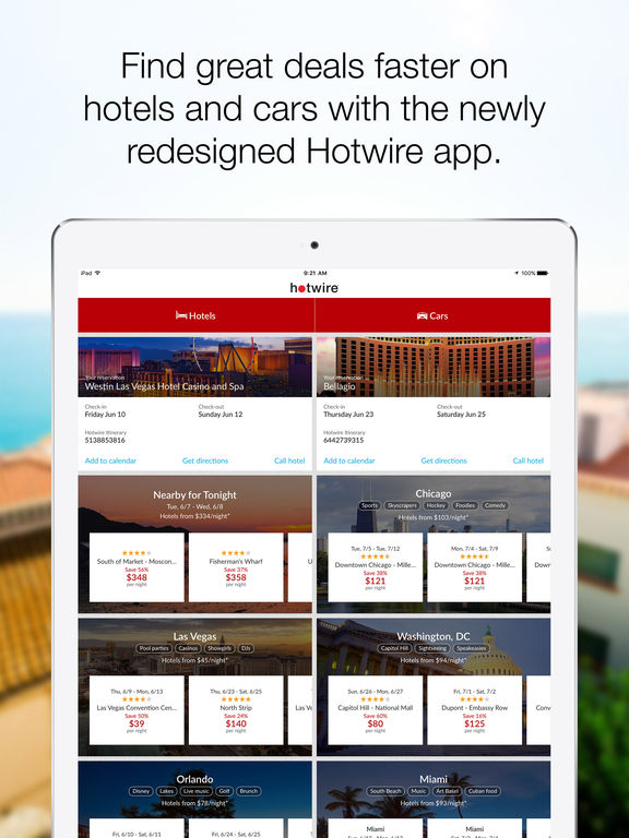 Hotwire Hotel Deals Car Als And Last Minute Travel Screenshot