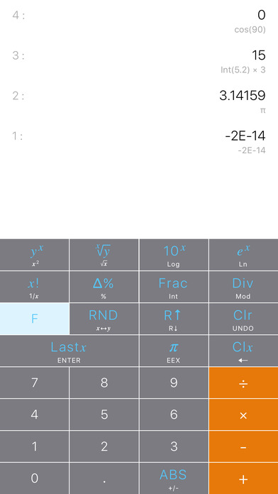 Calculator RPN Screenshots