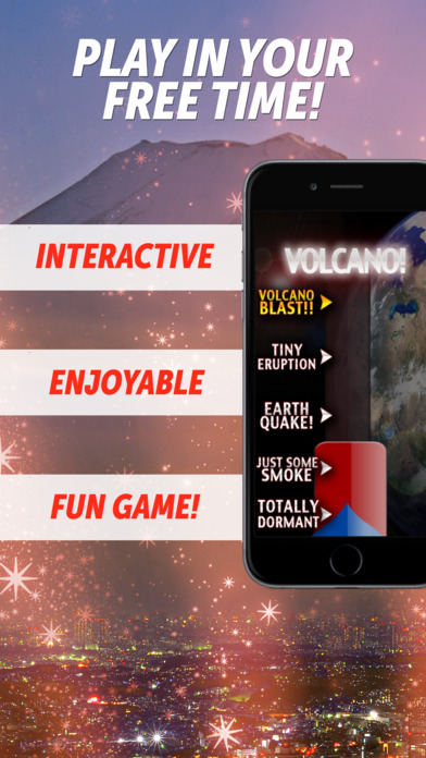 Volcano Eruption FREE iPhone Screenshot 1