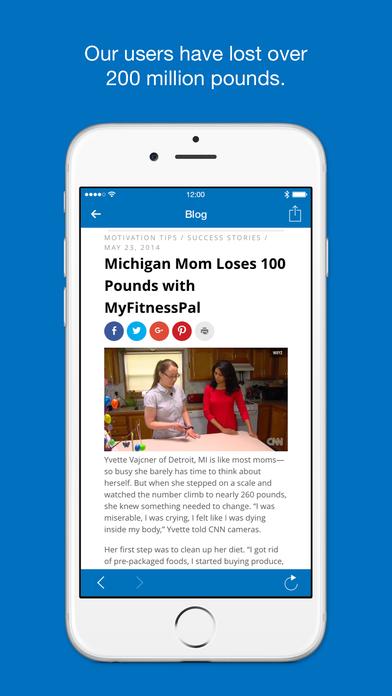 Calorie Counter & Diet Tracker by MyFitnessPal iPhone Screenshot 5