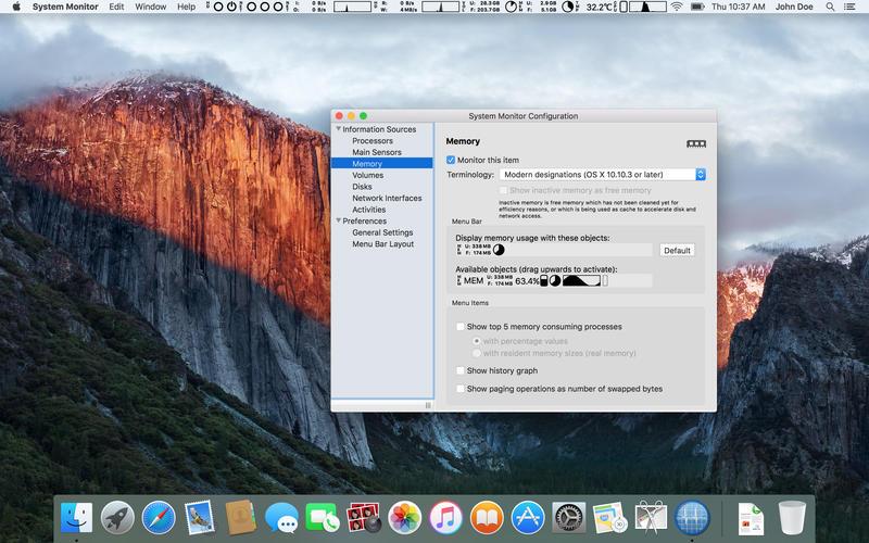 System Monitor for Mac 1.72 破解版 - 优秀的系统监控工具